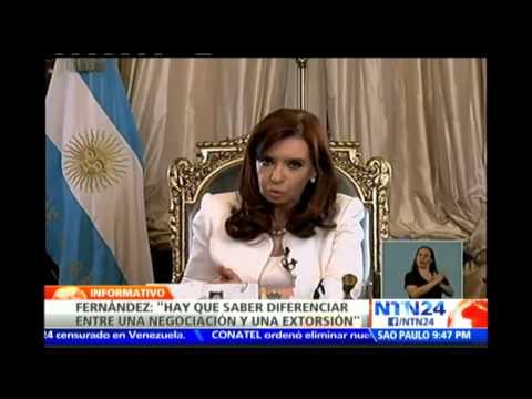 """Cristina Fernández considera """"extorsión"""" el fallo de corte en EE.UU. sobre pago de """"fondos buitre"""""""