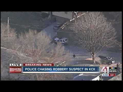 Robbery suspects lead authorities on high-speed chase through Kansas City, Kansas