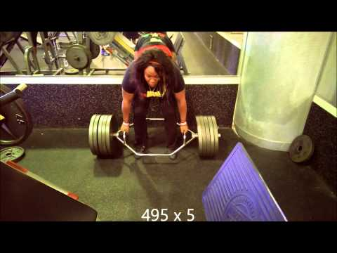 Brittany Pryor Trap Bar Deadlift 545 x3 Image 1