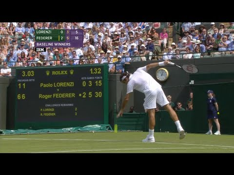 Wimbledon 2014 [HD] Roger Federer vs. Paolo Lorenzi 1R Final Game