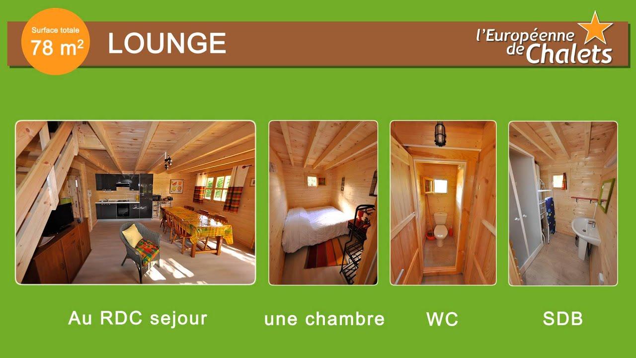 chalet bois en kit le lounge 78m youtube. Black Bedroom Furniture Sets. Home Design Ideas