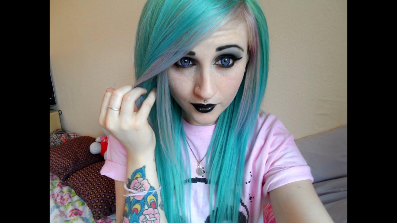 Pastel Goth Inspired Makeup Amp Hair Youtube