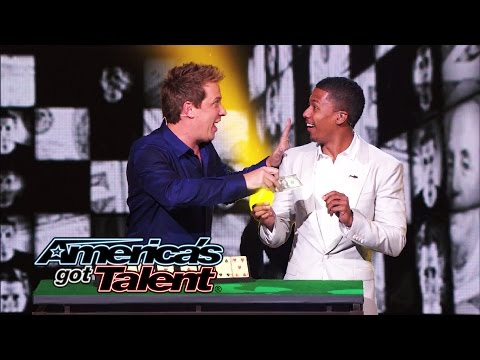 Mike Super: Magician Put Nick Cannon in a Money Machine - America's Got Talent 2014