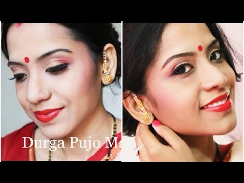 Festive makeup series part 3| Durgapuja \ Bengali Makeup look...