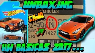UNBOXING - CAJA/CASE N HOT WHEELS BASICOS 2017