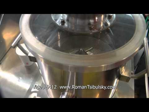 Production of granules. Pharmaceutical Screw Granulator of powder