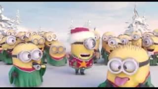 minions singing christmas carols