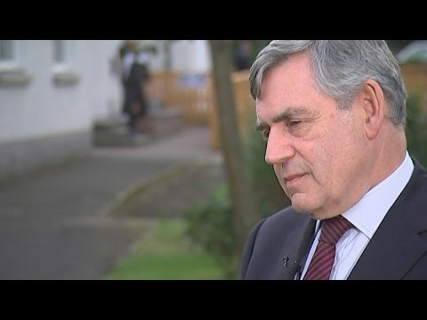Gordon Brown: Scots being offered 'home rule within UK'