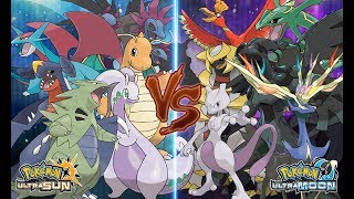 Pokemon Battle USUM: Pseudo-legendary Pokémon Vs Legendary Pokemon