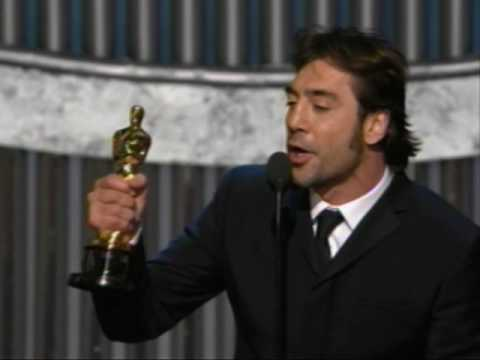 Javier Bardem winning the Oscar® for Best Supporting Actor for