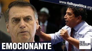 Magno Malta se emociona ao falar sobre Jair Bolsonaro em último discurso no Senado e revela..