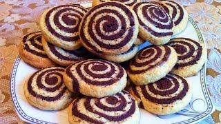 Печенье Улитки / Печенье Зебра / Песочное Печенье / Shortbread Snail / Cookies / Простой Рецепт
