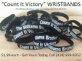 COUNT IT VICTORY WRISTBANDS THE WILLIAMS BROTHERS