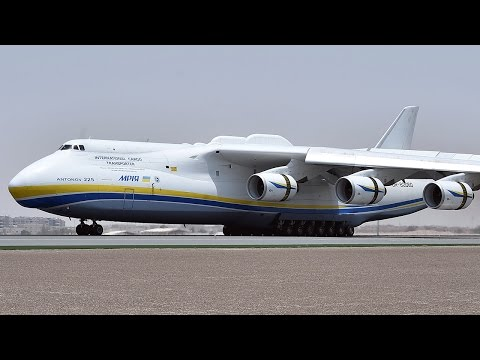 World's Largest Aircraft, Antonov An-225, Lands in Abu Dhabi