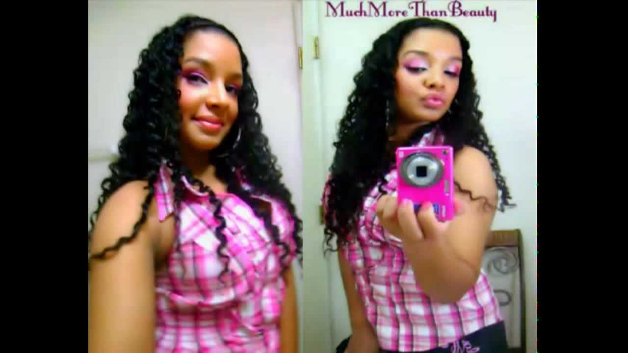 Quick Easy Crimped Wavy Hair Style  Braid Out Tutorial ...