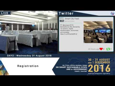 The 2nd Asia-Pacific Regional Forum : On Smart Sustainable Cities and E-government (Day2_part1)