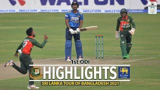 Bangladesh vs Sri Lanka Highlights || 1st ODI || Sri Lanka tour of Bangladesh 2021