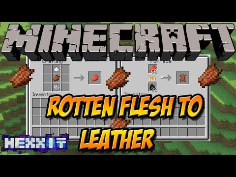 ZOMBIEFLEISCH ZU LEDER   Rotten Flesh to Leather Mod   Minecraft Hexxit Mod Review [DEUTSCH]