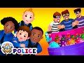 ChuChu TV Police Chase Thief in Railroad Police Car & Save Gi...
