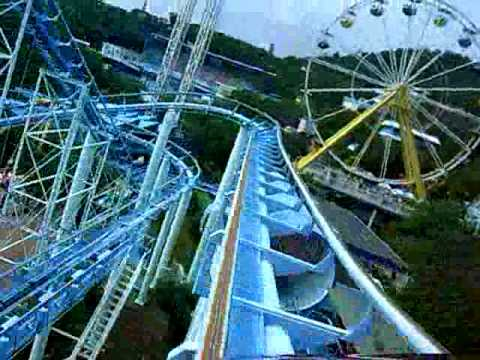 Rollercoaster at Ocean Park in Hong Kong