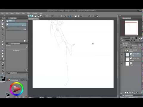 Sample lineart in Clip Studio Paint / Manga Studio 5 - Line Tools.