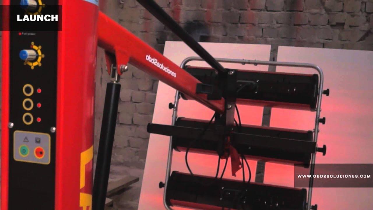 Lamparas de secado de pintura automotriz launch usado para secar mdf youtube - Cabina de pintura coches ...