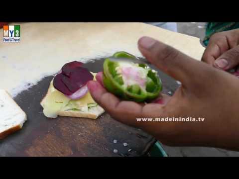 Bombay Veg Toast Sandwich Recipe   How to Make Vegetable Toast   MUMBAI STREET FOODS