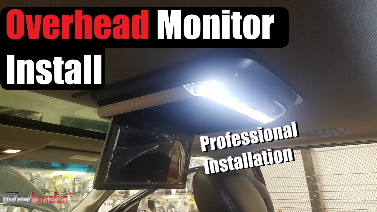 how to install an overhead screen    monitor dvd player