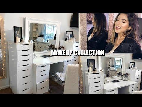 MY MAKEUP COLLECTION ♡ Vanity Tour! | Amanda Diaz