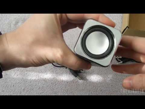 Unboxing Rechargeable MP3 Speaker with FM Radio + TF/ USB Slots - UK-2.FM Music Angel