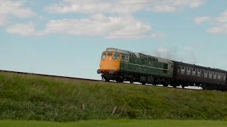 HD Stock Video Clip | Train Passing Fields | Free Download
