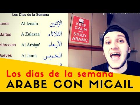 Los días de la semana en árabe - Days of the week - Aprender árabe online gratis - Árabe con Micaíl