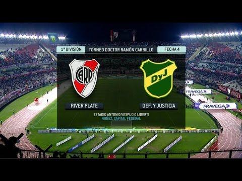 Fútbol en vivo. River - Defensa. Fecha 4. Torneo Primera División 2014. FPT.