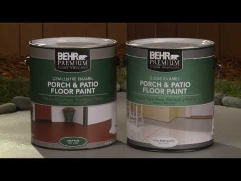 Applying Concrete Floor Coating Granitex From Lowe's   How To Save ...