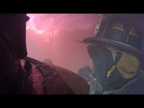 Helmet cam: Structure fire in S.C.