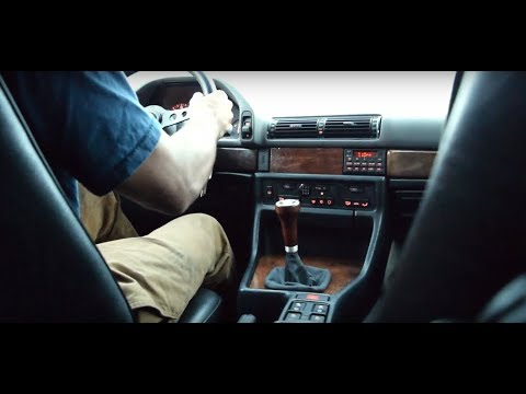 BMW E32 740i 6 Speed Manual Launch And Sound Test