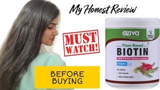 Hair fall, hair thinning? Not anymore with 100% effective OZiva plant based biotin. | Sayne Arju