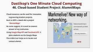 Lesson 46.  AlumniMaps- Combines Facebook  Data and Google Maps
