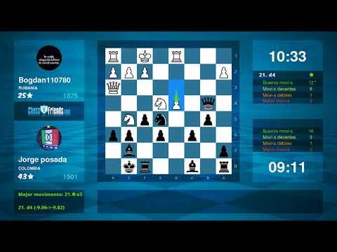 Chess Game Analysis: Bogdan110780 Jorge posada : 01 (By ChessFriends.com)
