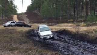 Mercedes ML, BMW X6, X5 off-road