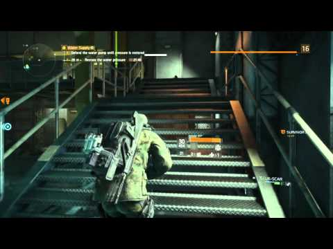 THE DIVISION WATER SUPPLY MISSION WITH UK SCAR PS4