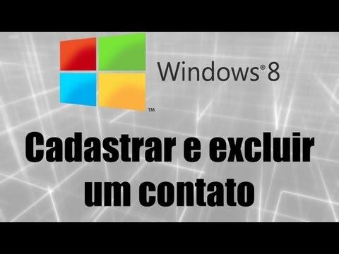 Windows 8 - Cadastrar e excluir um contato