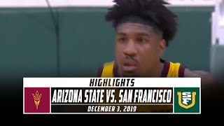 Arizona State vs. San Francisco Basketball Highlights (2019-20) | Stadium