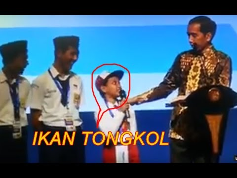 Video viral anak sd salah ucap ikan tongkol di depan pak jokowi