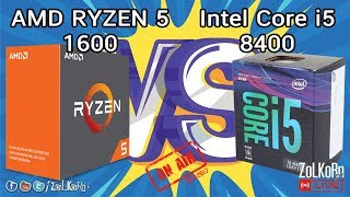 วัดกันเน้น ๆ AMD RYZEN 5 1600 ปะทะ Intel Core i5-8400 (ยกที่ 1): ZoLKoRn on Live - EP#70