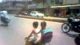 School Kids Driving Small Bike Watsapp Funny Videos Whats Up Comedy Clips Dhoom Song Spoof