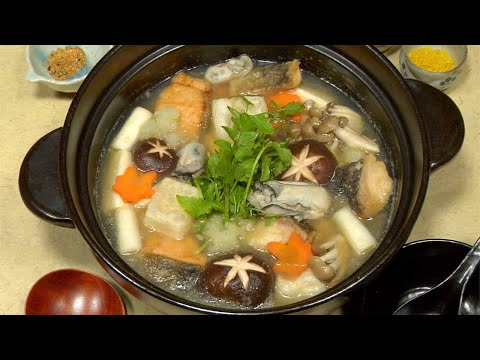 Mizore Nabe みぞれ鍋 (Hot Pot Served w/ Grated Daikon Radish) Video