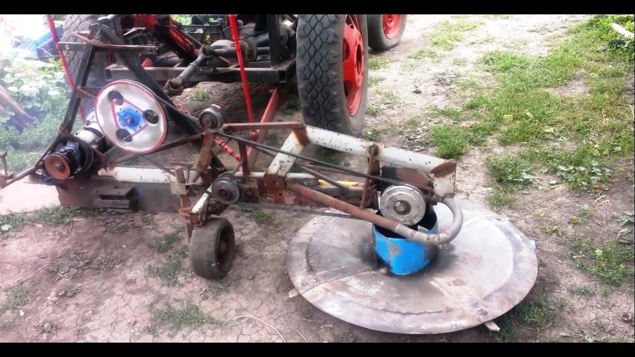 Как на самодельный трактор сделать косилку 545