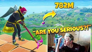"Ninja Reacts to ""The Best Golf Trickshot of all Time!"" (Twitch Moments Fortnite Reaction)"