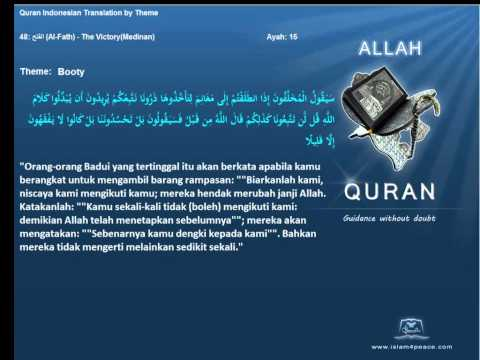 Quran by Theme Indonesian   Booty Islam4Peace com